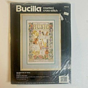 "Bucilla Cross Stitch Kit ""Celebration of Music"""
